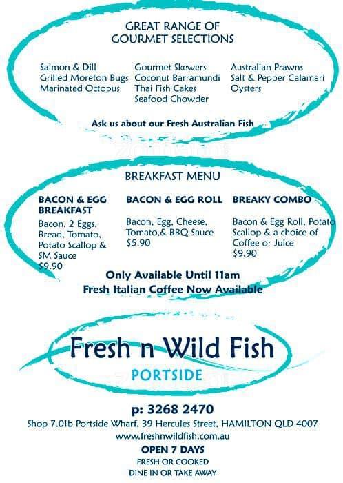 Fresh n wild fish menu menu de fresh n wild fish ascot for Fish s wild menu