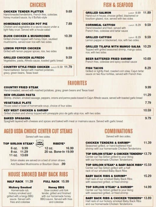 the restaurant information including the cheddars scratch kitchen menu items and prices may have been modified since the last website update - Cheddars Scratch Kitchen Menu
