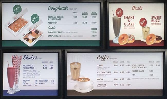 Price Krispy Kreme October 2018 Wholesale