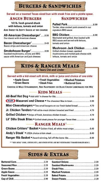 photograph relating to Texas Roadhouse Printable Menu named Selling prices For: Menu Selling prices For Texas Roadhouse
