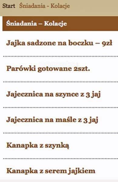 Kuchnia Polska Menu Menu Restauracji Kuchnia Polska