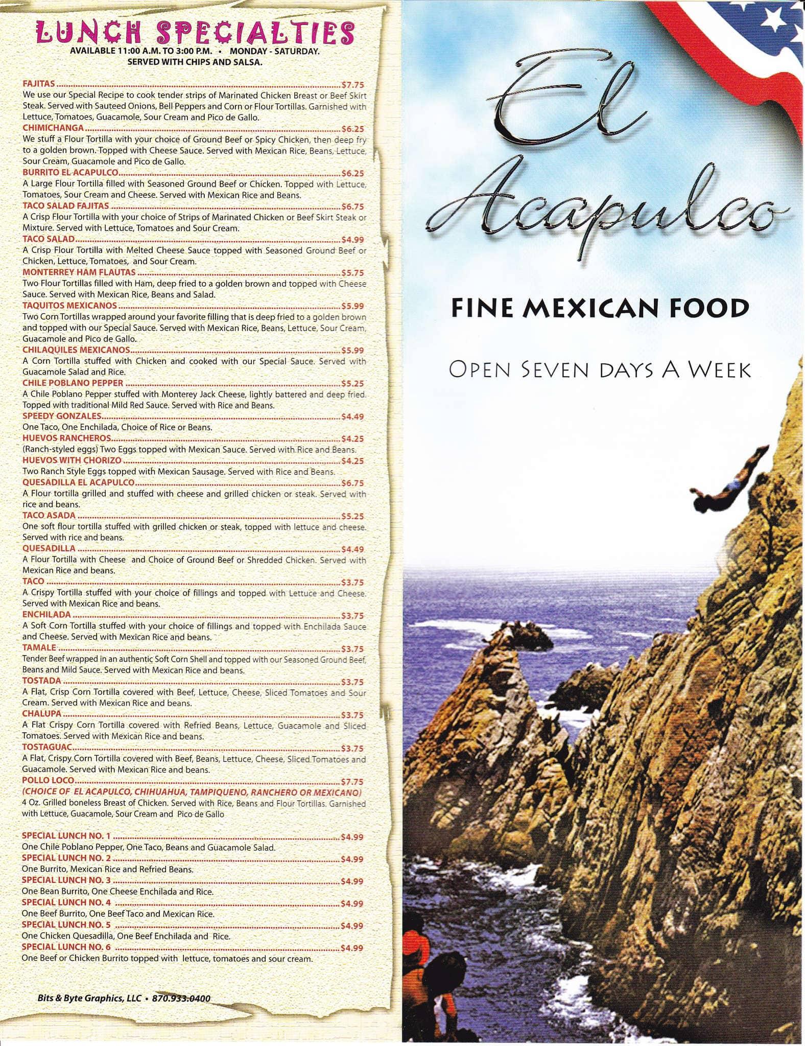 El Acapulco Mexican Restaurant Jonesboro Ar