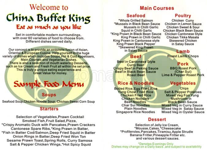 china buffet king menu menu for china buffet king city centre rh zomato com buffet king prices metrocentre buffet king prices austin tx