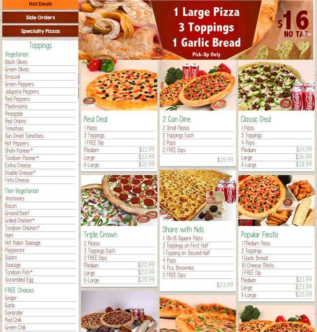 Home Delivery Food Coupons