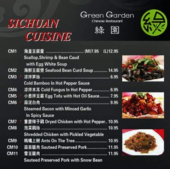 Green Garden Chinese Restaurant Menu Urbanspoon Zomato