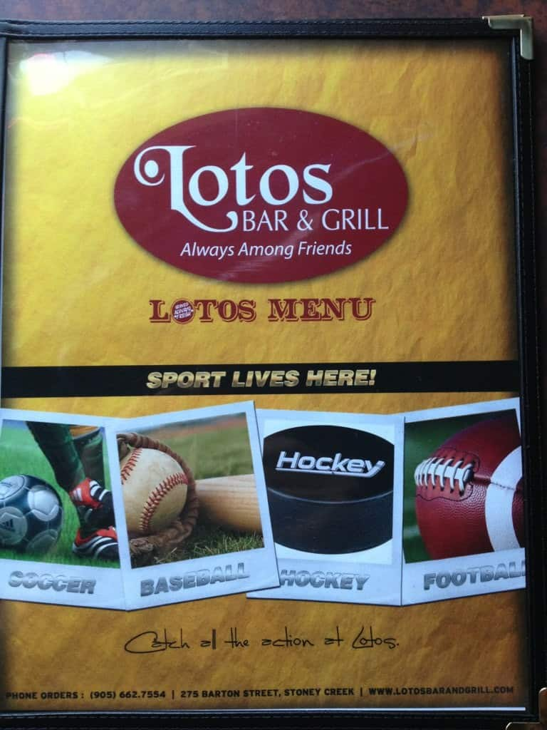 Lotos Bar Grill Hamilton Menu