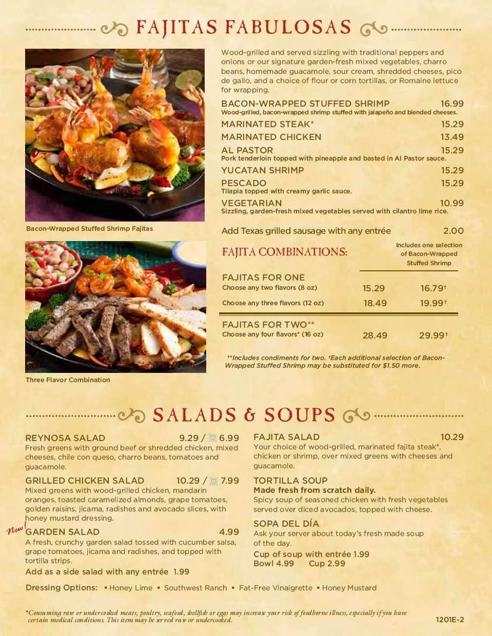 Abuelo S Menu Menu For Abuelo S Northwest Indianapolis