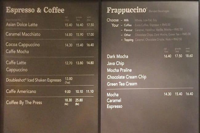 Menu Food Starbucks Indonesia