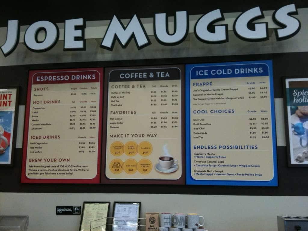 Joe Muggs Menu
