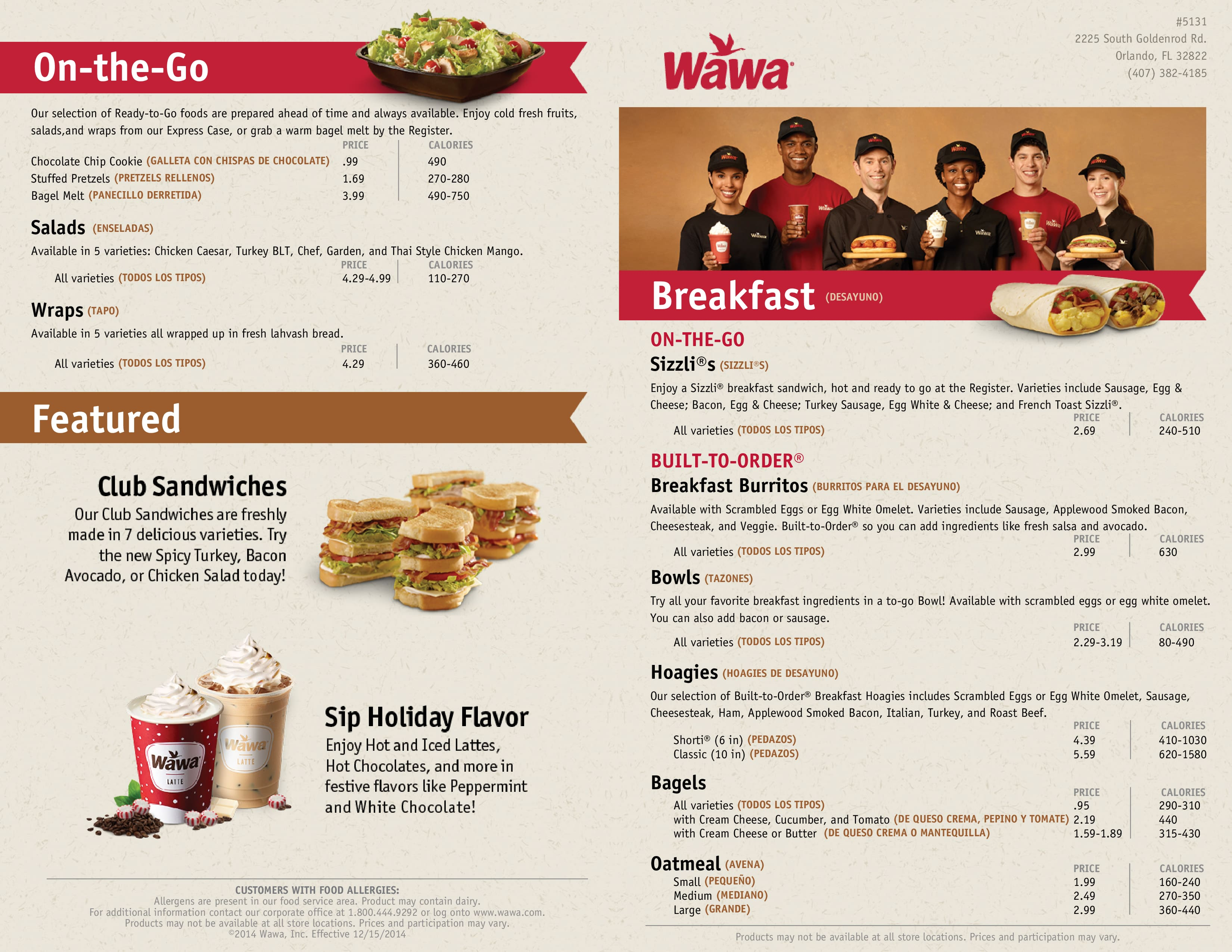 Wawa Menu, Menu for Wawa, East, Orlando - Urbanspoon/Zomato