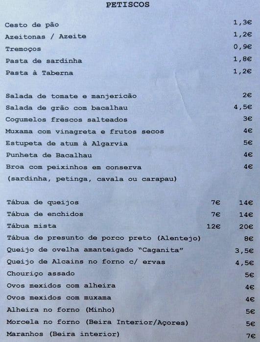 Dop Restaurant Porto Menu