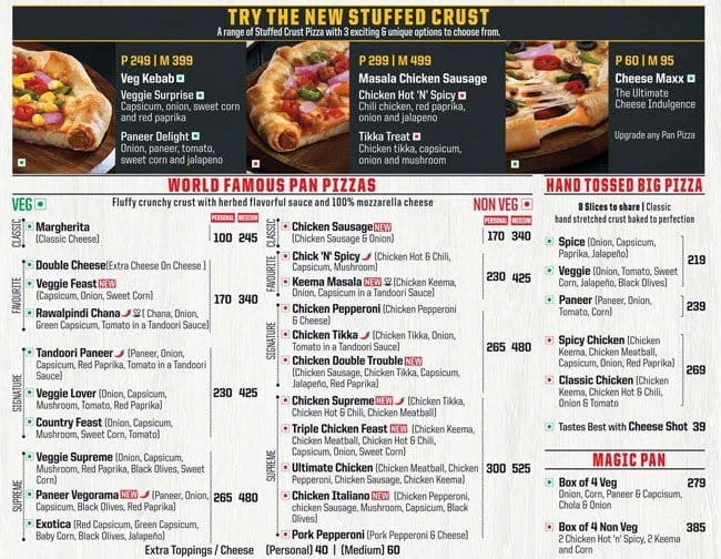 Pizza Hut Menu, Menu for Pizza Hut, Dombivali East, Mumbai ...