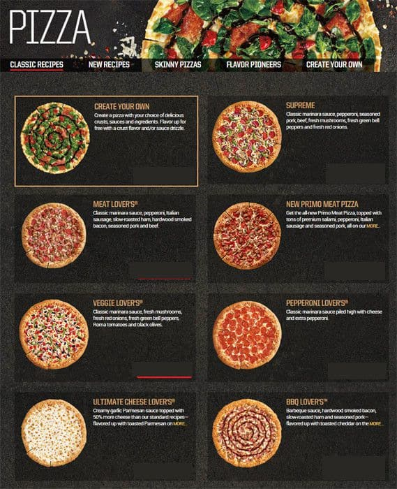 Pizza Hut Menu, Menu for Pizza Hut, La Vernia, La Vernia ...