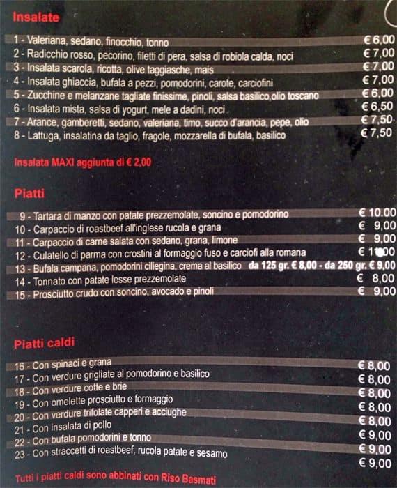 Spa del Gusto a Milano: Foto del Menu con Prezzi - Zomato Italia