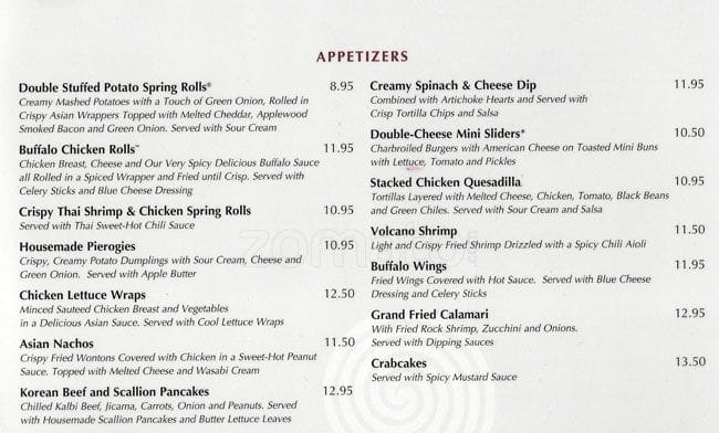 Grand Luxe Cafe Menu And Prices