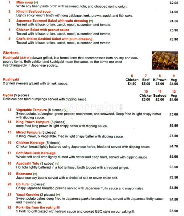 Nippon Kitchen Glasgow Menu Prices