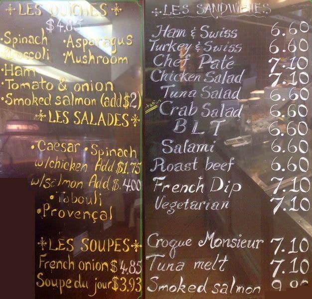 Cafe Brioche Rice Village Menu