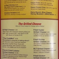 The Grilled Cheese Crab Cake Company Restaurant