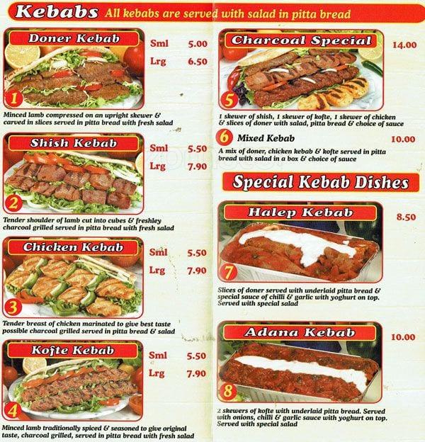 Menu At Esher Best Kebab Restaurant Esher