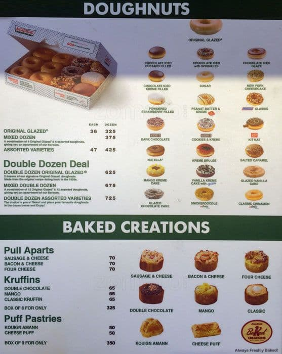 Feb 10, · Krispy Kreme Menu with Prices. See the full Krispy Kreme doughnuts menu and coffee prices here. Learn about the latest Krispy Kreme specials and deals. Prices at Krispy Kreme may vary from shop to shop. What is Krispy Kreme Doughnuts? Krispy Kreme Doughnuts, Inc. is an American doughnut and coffee shop chain based in Winston-Salem, North Carolina.5/5(1).