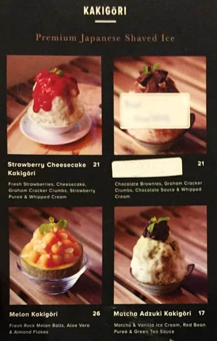 Mykori Dessert Cafe Menu Menu For Mykori Dessert Cafe Puchong Jaya