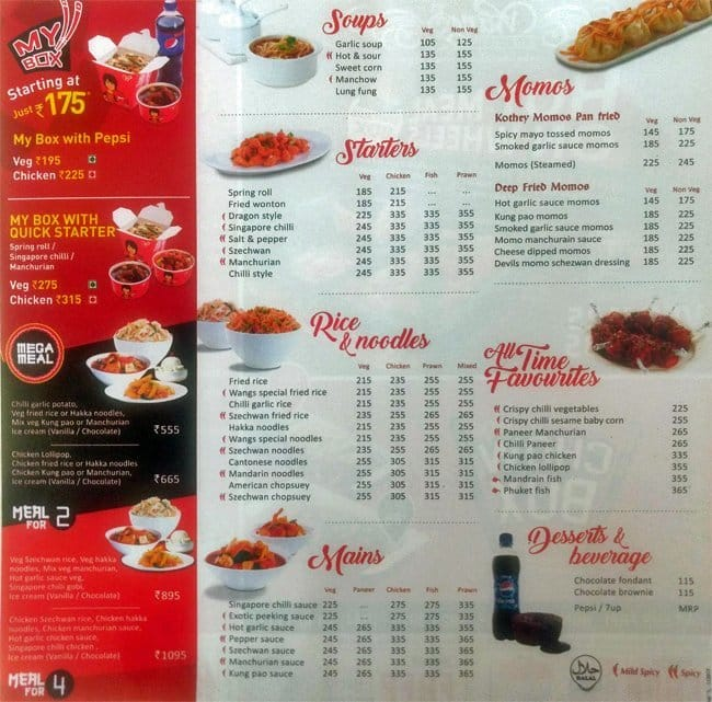 Wangs Kitchen Menu With Prices