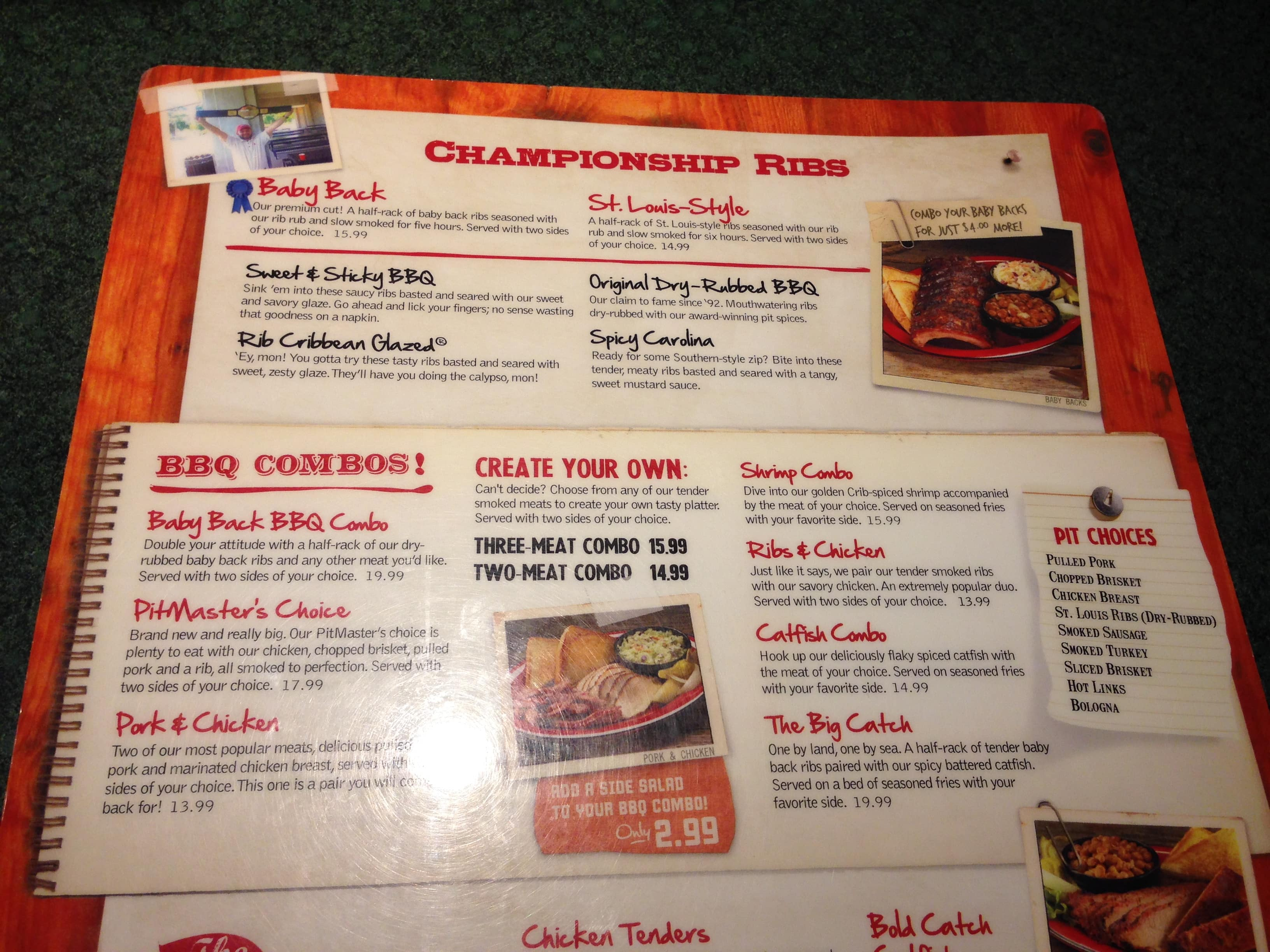 Rib Crib Ada Menu