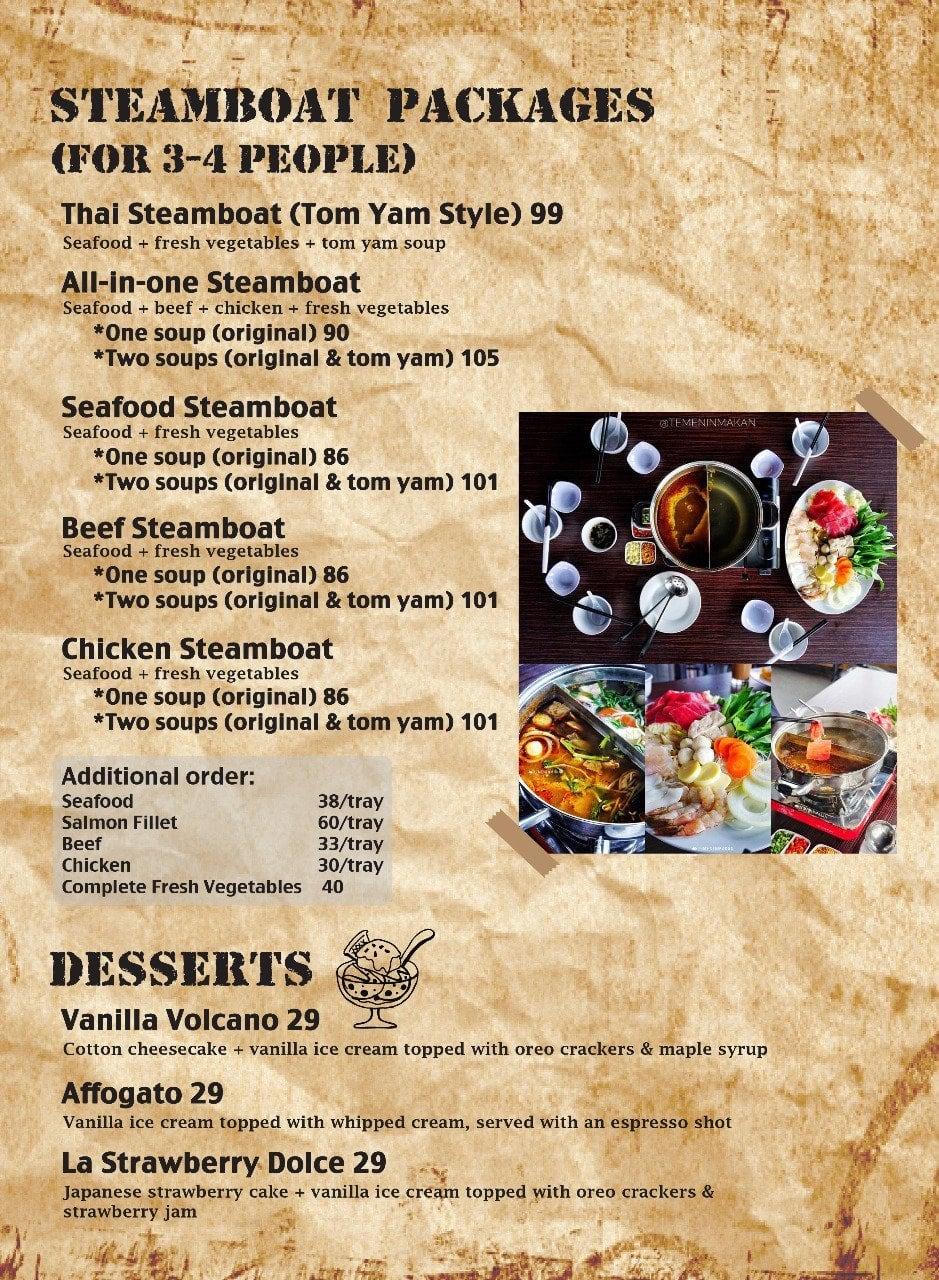 Terrazza Steakhouse Menu Menu For Terrazza Steakhouse