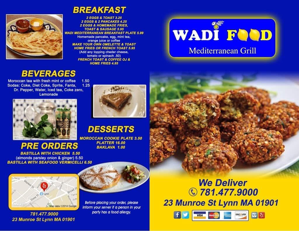 Wadi food mediterranean grill menu urbanspoon zomato for Mediterranean restaurant menu