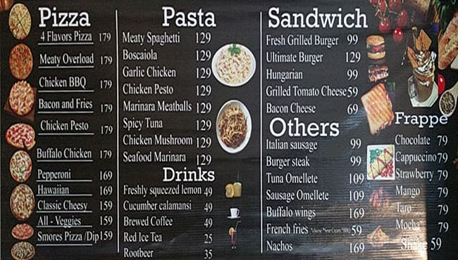 Pizza StrEat Menu