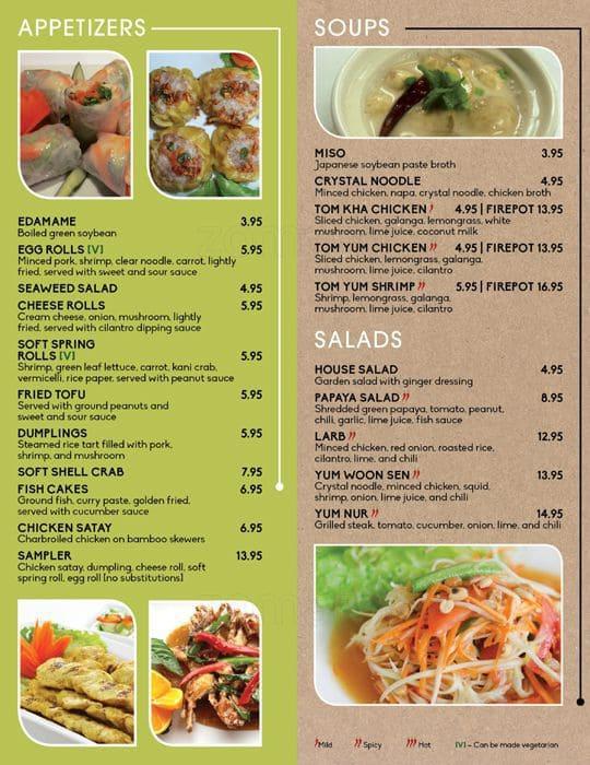 Ginger Thai Cuisine Menu Menu For Ginger Thai Cuisine Katy