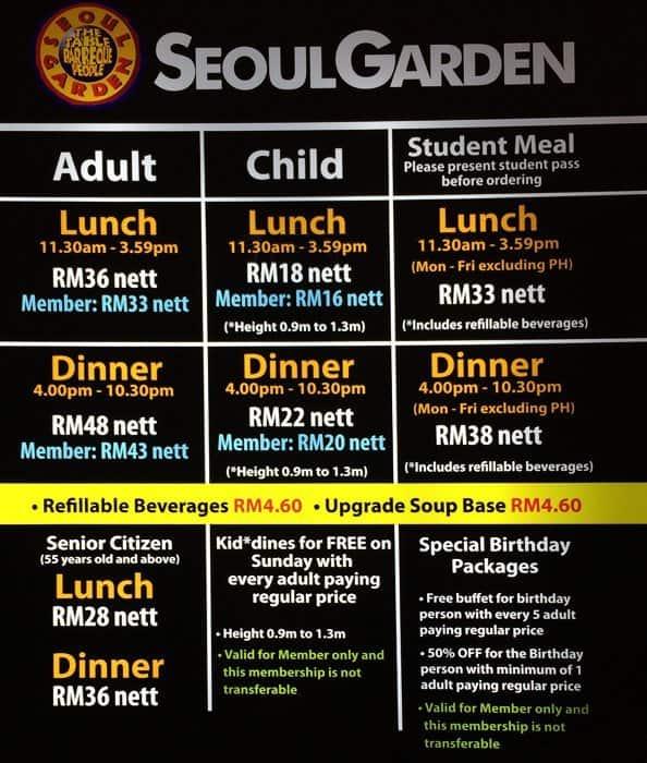 Seoul Garden Hotpot Menu Menu For Seoul Garden Hotpot Chow Kit Kuala Lumpur