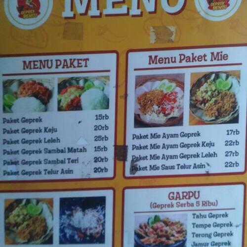 Geprek Bensu Menu Menu For Geprek Bensu Dago Bandung Zomato