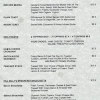 Hillbilly Cafe Blackwood Menu