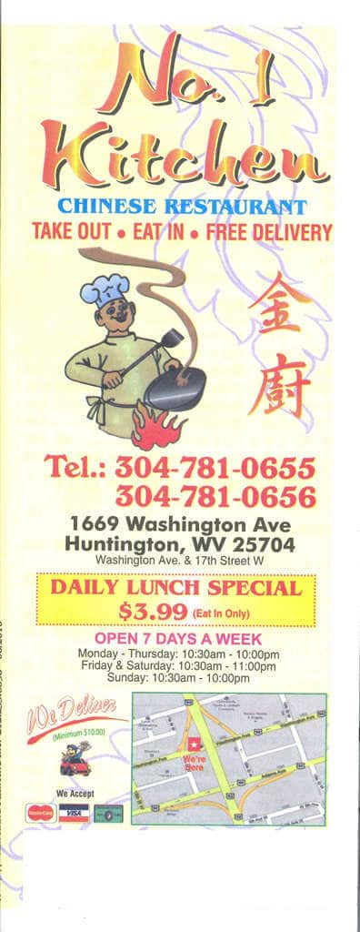 No 1 Kitchen Chinese Restaurant Menu Urbanspoon Zomato