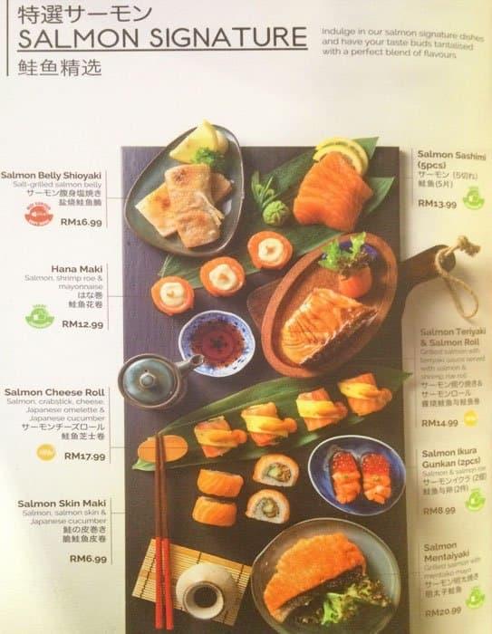 Sakae Sushi Menu Menu For Sakae Sushi Bangsar South Kuala Lumpur