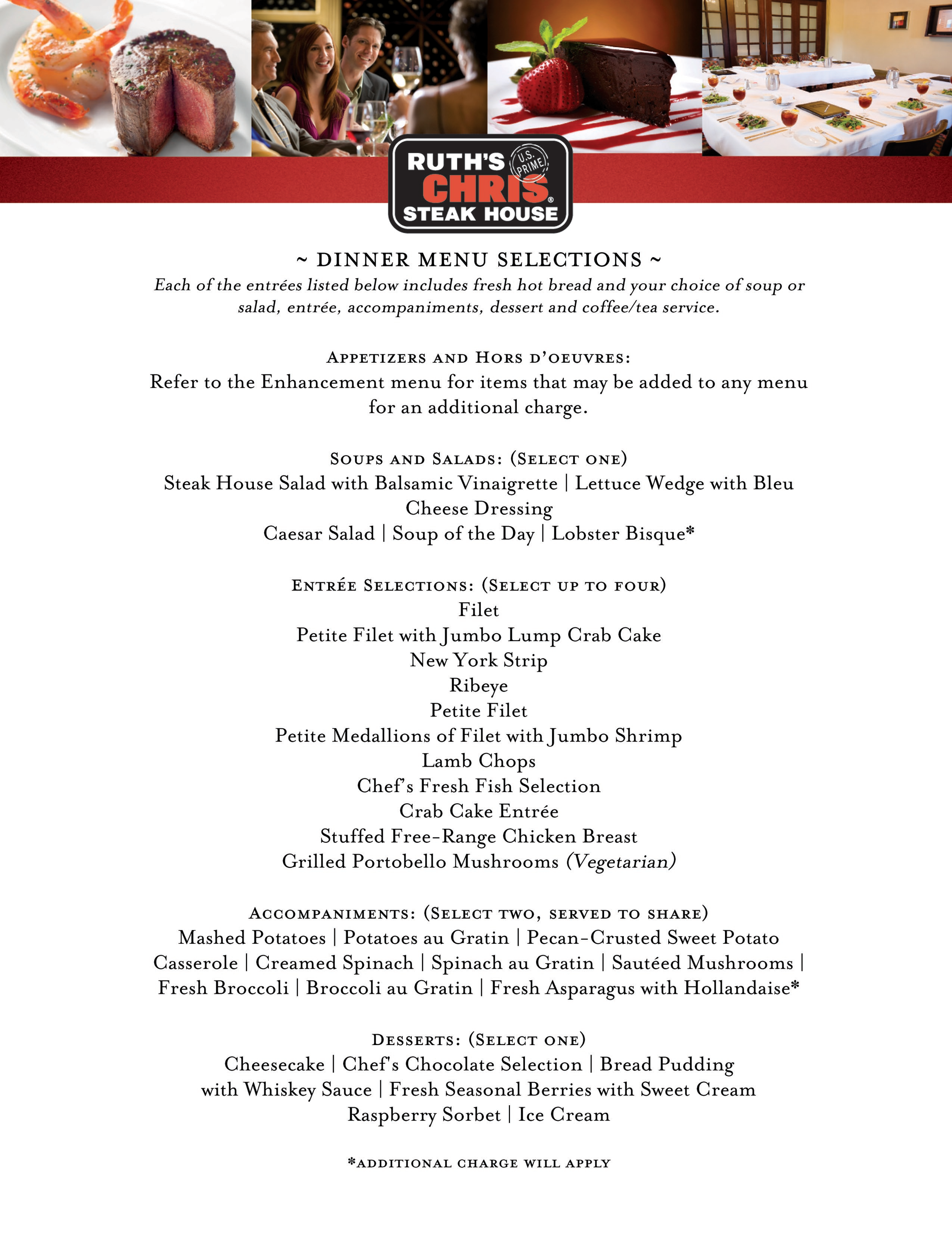 · Ruth's Chris Steakhouse Menu with Prices. See the complete Ruth's Chris menu with prices here, including the Steaks and Chops menu, shrimp and seafood menu, as well as the extensive vegetables and salads menu/5(8).