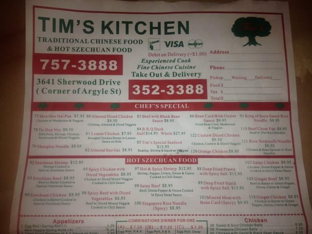 Tim 39 S Kitchen Menu Menu For Tim 39 S Kitchen Northgate Regina Urbanspoon Zomato