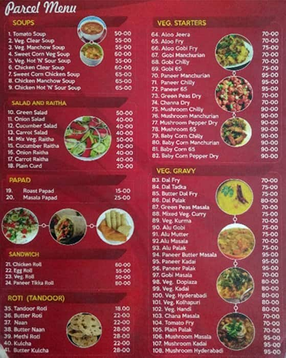 Hotel Food Paradise Menu Menu For Hotel Food Paradise
