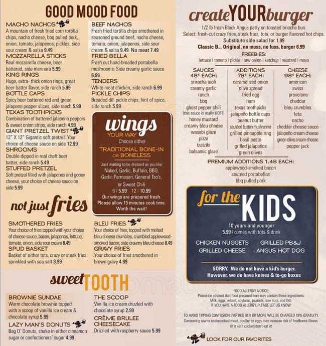 Burgers And Beer Menu Menu For Burgers And Beer Kankakee
