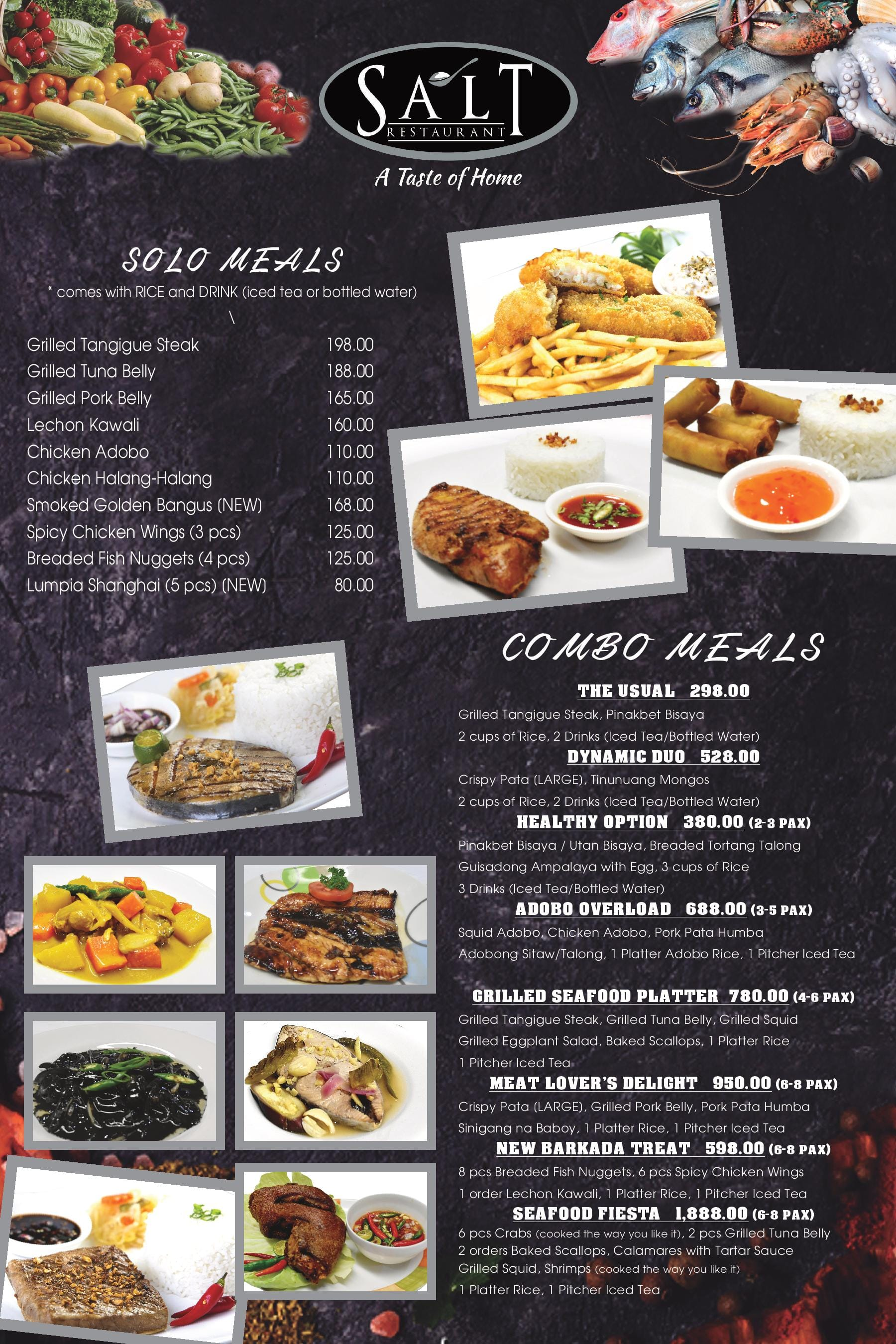 salt restaurant menu menu for salt restaurant kamputhaw cebu city