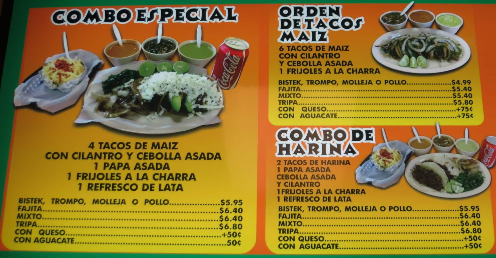 menu of tacos essay R taco menu menu (pdf) handmade tacos your choice of corn or flour tortillas if you want no onion or cilantro, just menu items and pricing vary slightly by.