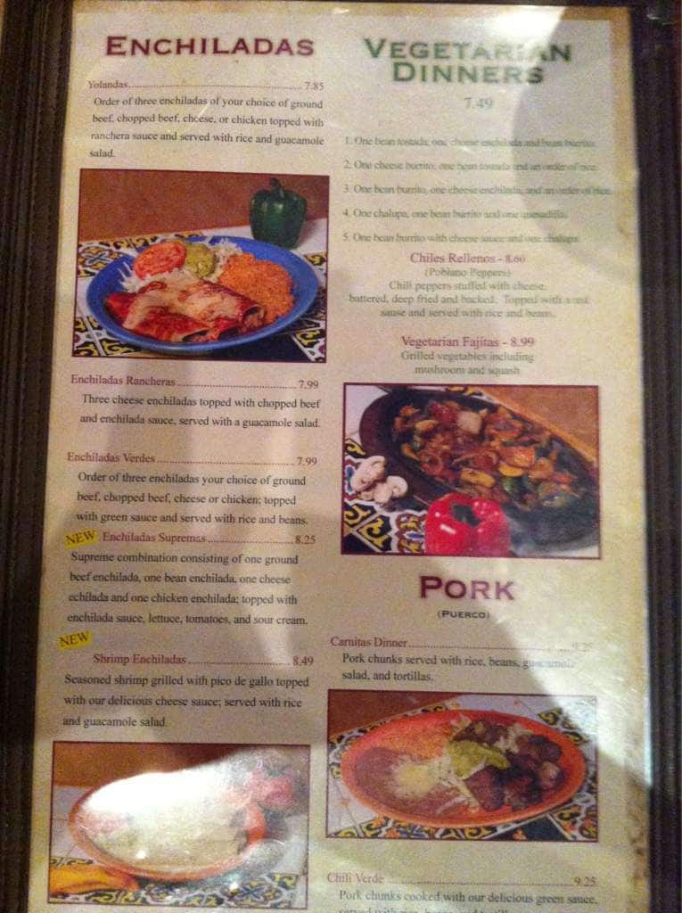Menu at El Patio, 731 N 14th St - Restaurant prices