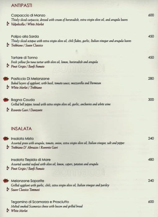 Tosca dusit thani manila menu zomato philippines for Terrace 33 makati menu
