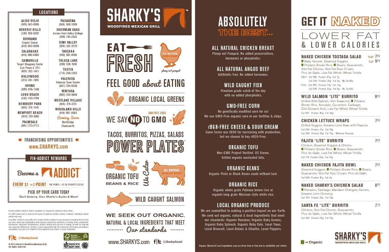 Sharky S Restaurant Menu