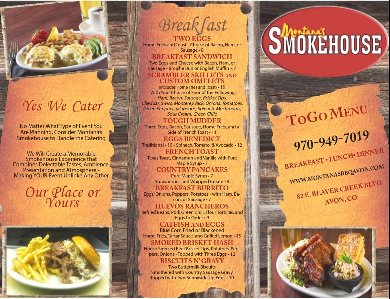 Montana S Smokehouse Menu Urbanspoon Zomato