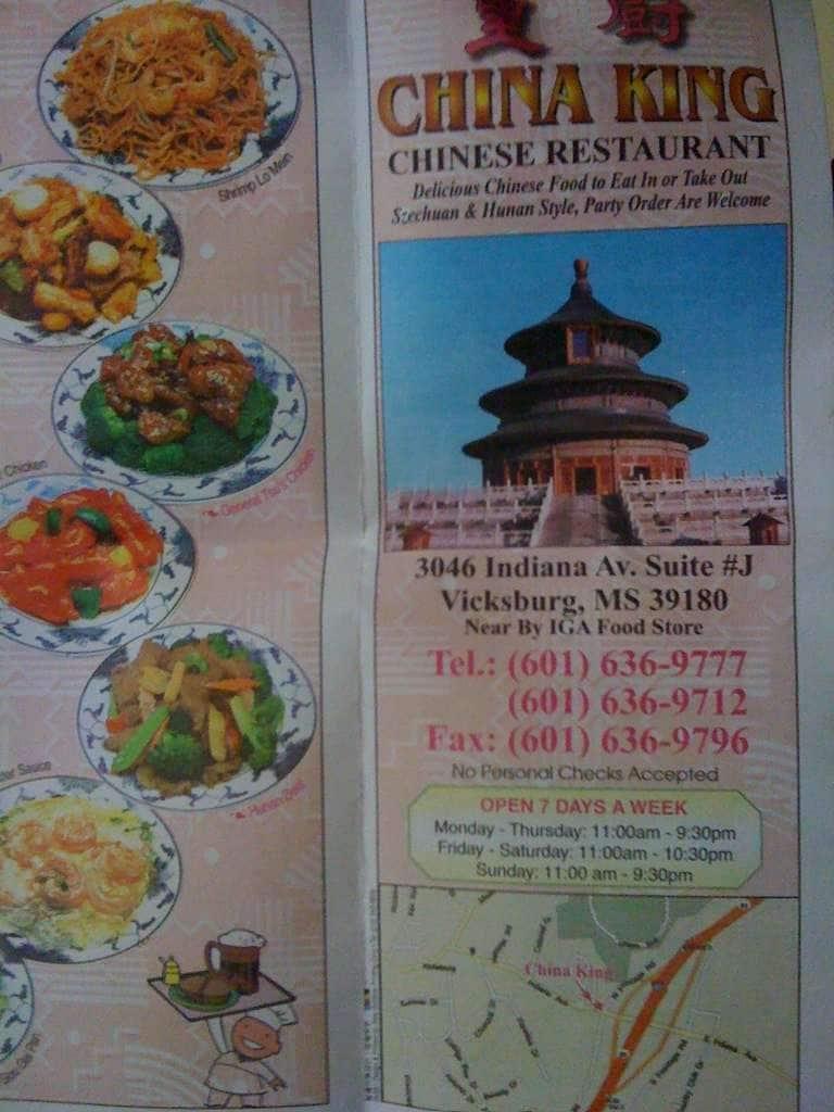 China king chinese restaurant menu urbanspoon zomato for Cinese menu
