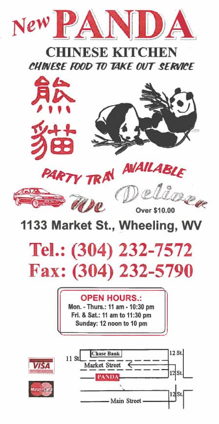 Chinese Food Delivery Wheeling Wv