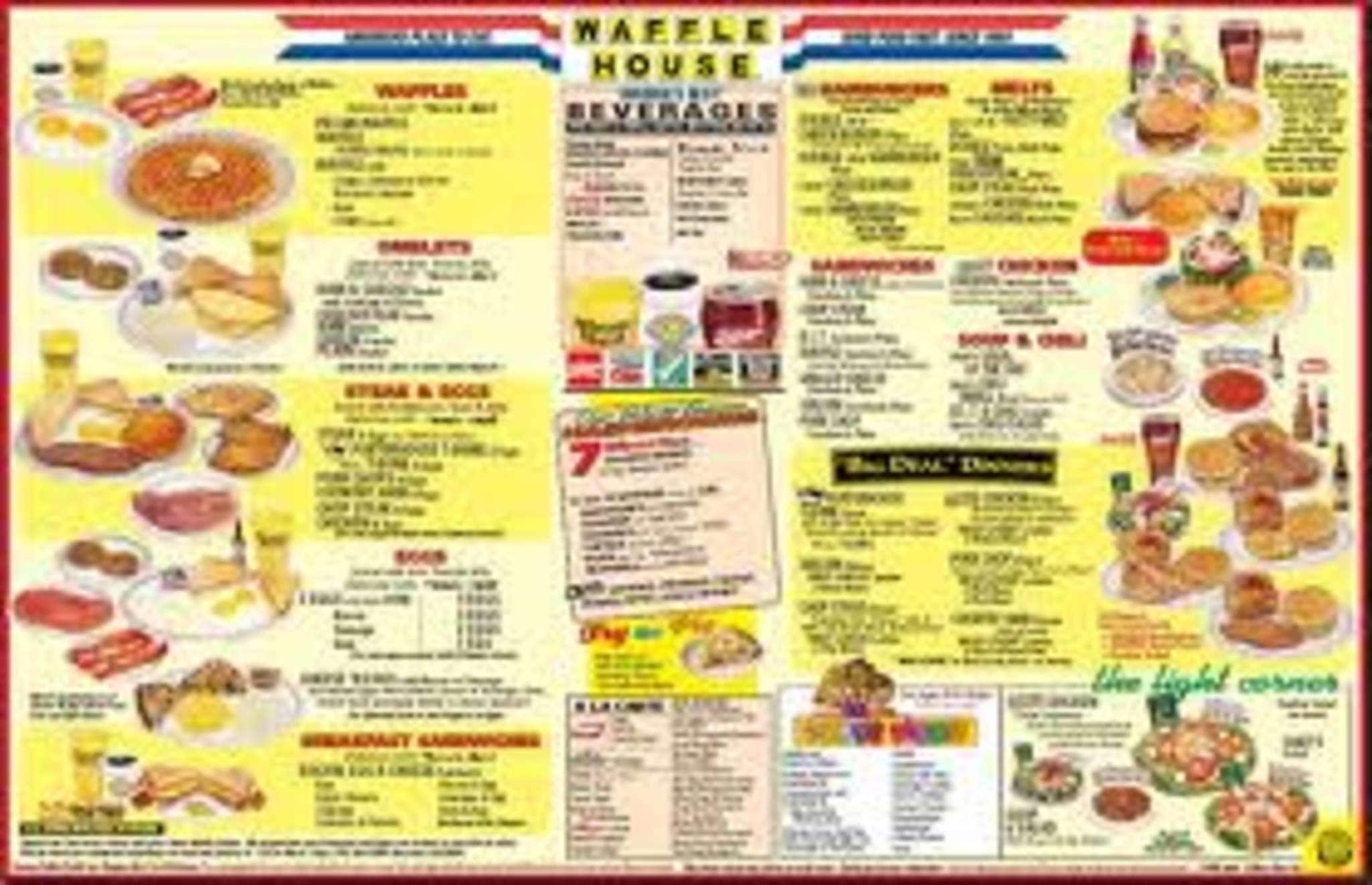 Waffle House Menu Menu for Waffle House Beavercreek Dayton
