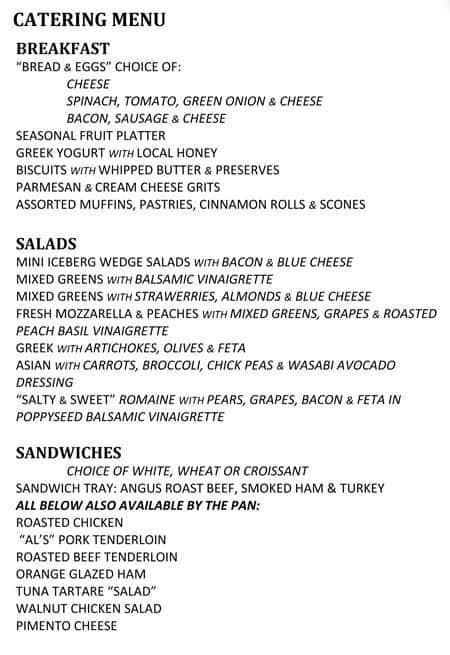 The Farmers Table Menu Menu For The Farmers Table Jackson - Farmers table menu